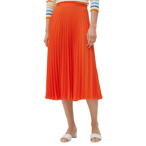 Chinti and Parker True Orange Pleated Skirt
