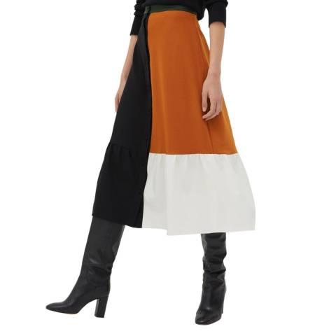 Chinti and Parker Black/Multi Colour Block Skirt