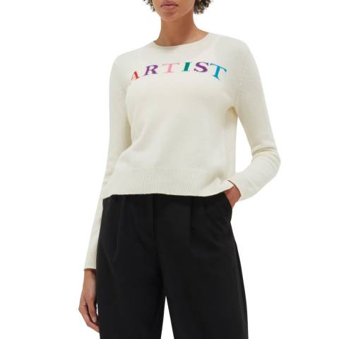 Chinti and Parker Cream Wool/Cashmere Artist Sweater