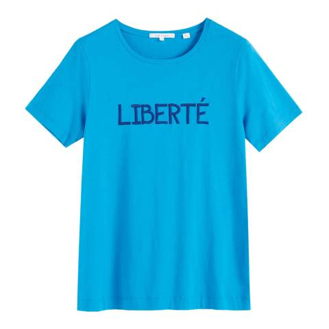 Chinti and Parker Turquoise Liberte Short Sleeve T-Shirt