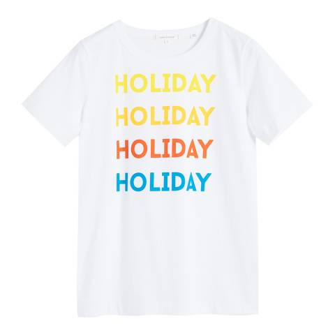 Chinti and Parker White Holiday Cotton T-Shirt