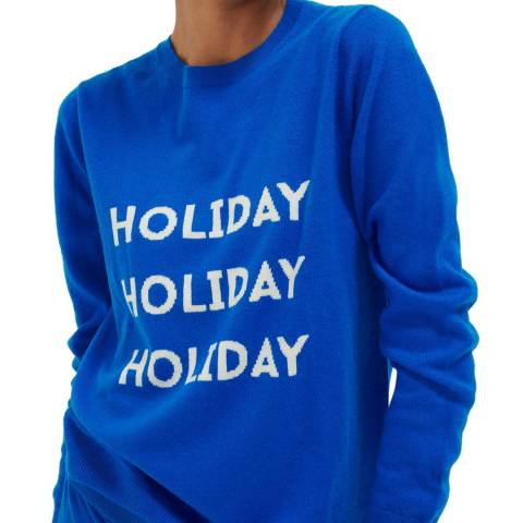 Chinti and Parker Royal Blue Wool/Cashmere Holiday Sweater