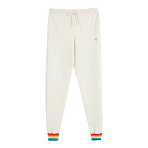 Chinti and Parker Cream/Multi Cashmere Cuff Track Pant