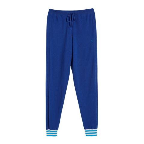 Chinti and Parker French Navy Cashmere Cuff Track Pant