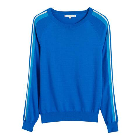 Chinti and Parker Royal Blue Cotton Seaside Stripe Sweater