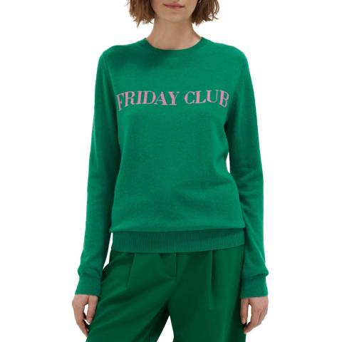Chinti and Parker Emerald/Peony Wool/Cashmere Blend Sweater