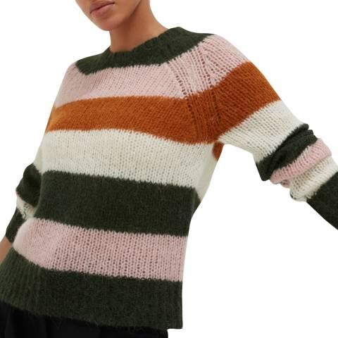 Chinti and Parker Cream/Multi Alpaca Stripe Sweater