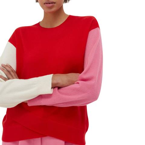 Chinti and Parker Bright Red Cashmere Sweater