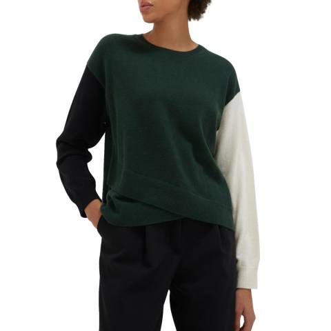 Chinti and Parker Juniper/ Black Cashmere Sweater