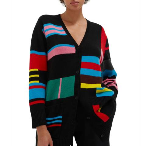 Chinti and Parker Multi Wool/Cashmere Blend Eccentric Cardigan