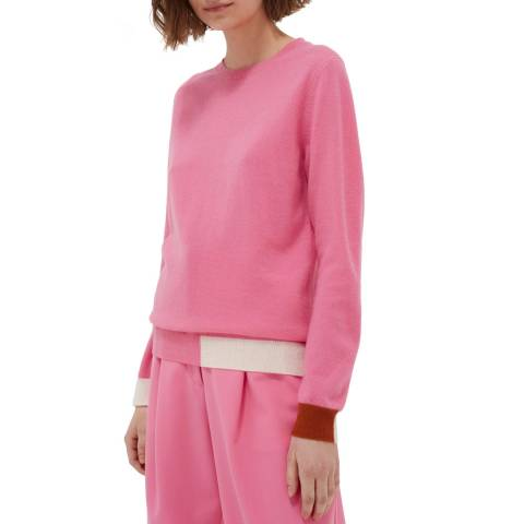 Chinti and Parker Peony Cashmere Cambridge Sweater