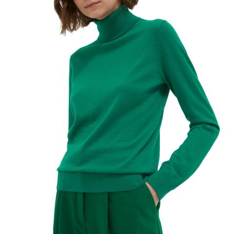 Chinti and Parker Emerald Cashmere Roll Neck Sweater