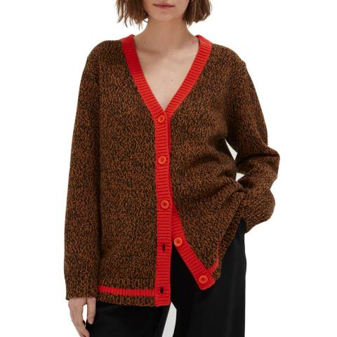 Chinti and Parker Brown Wool Dalloway Love Cardigan
