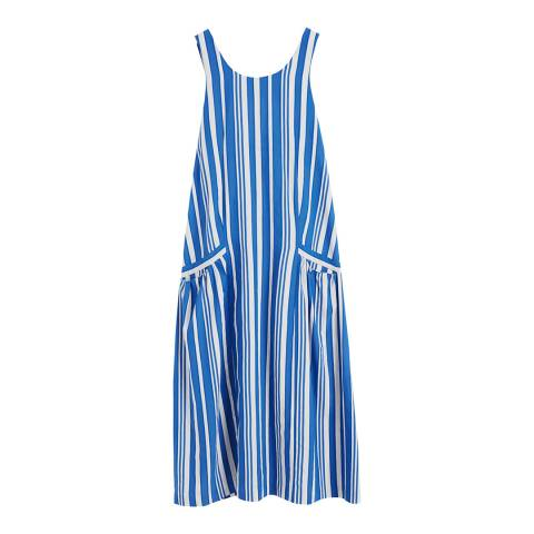 Chinti and Parker French Navy/Ivory Parasol Sundress