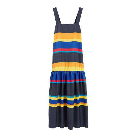 Chinti and Parker Navy/Multi Silk Blend Sundress