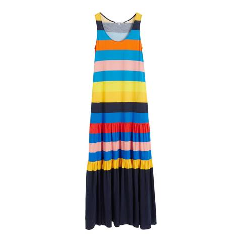 Chinti and Parker Multi Sunset Cotton Holiday Dress