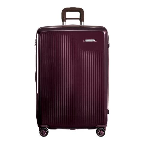 Briggs & Riley Plum Sympatico Large Expandable Spinner
