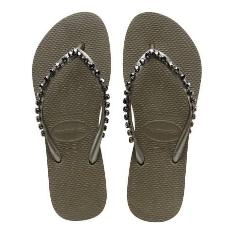 Havaianas Khaki Slim Rock Mesh Flip Flop