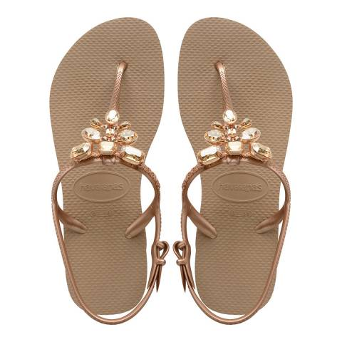 Havaianas Rose Gold Freedom Capri III Sandals