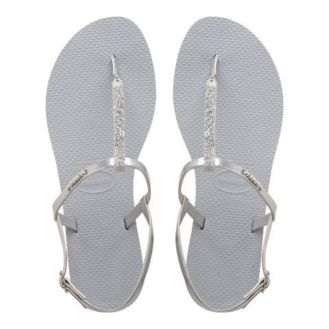 Havaianas Grey You Riviera Crystal Sandals