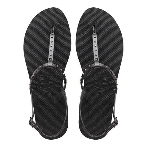 Havaianas Black You Riviera Maxi Sandals