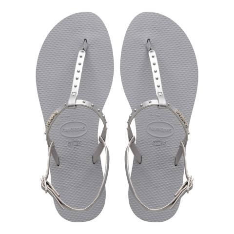 Havaianas Ice Grey You Riviera Maxi Sandals