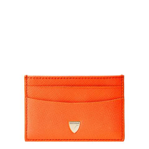 Aspinal of London Bright Orange Slim Card Case