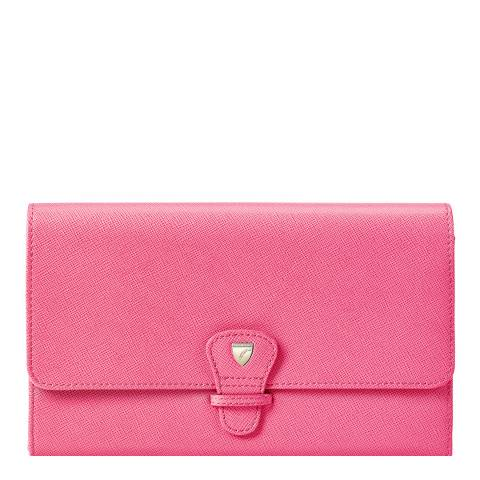 Aspinal of London Bright Pink Classic Travel Wallet