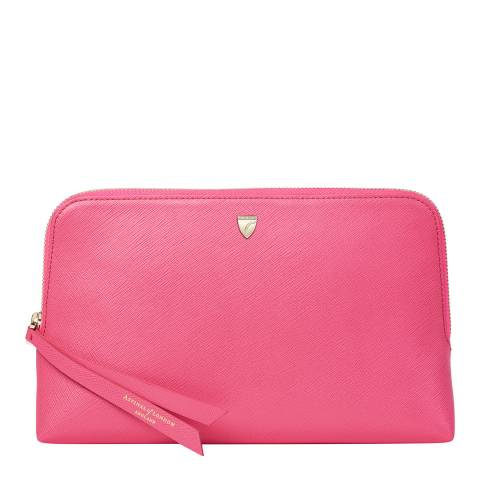 Aspinal of London Bright Pink Medium Essential Cosmetic Case