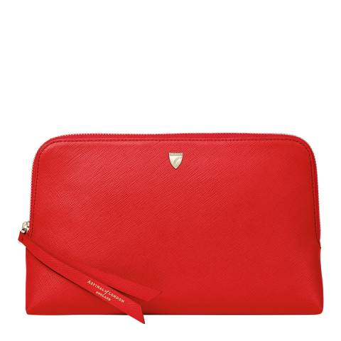 Aspinal of London Scarlet Medium Essential Cosmetic Case