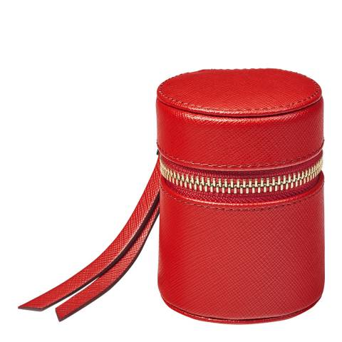 Aspinal of London Scarlet Tall Zip Travel Case