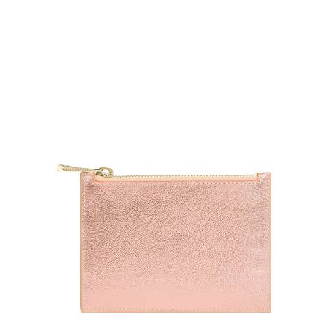 Aspinal of London Rose Gold Small Essential Flat Pouch