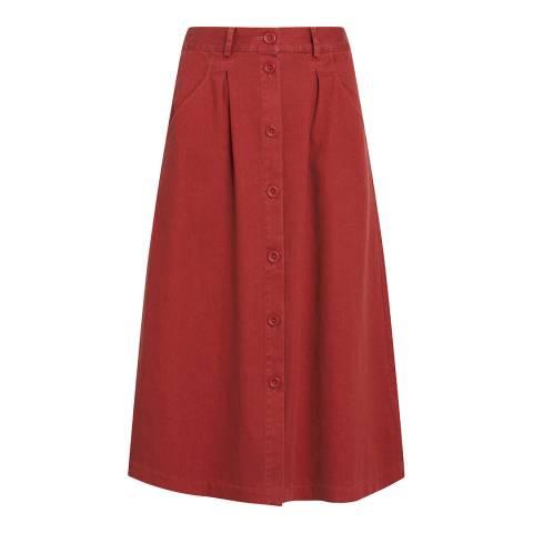 Seasalt Red Screen Test Skirt