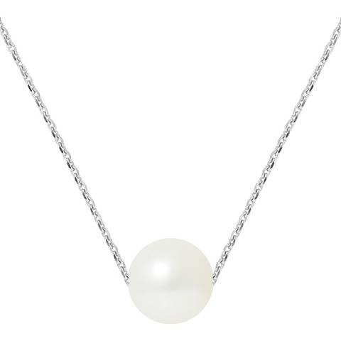 Manufacture Royale Natural White Pearl Necklace 8-9mm