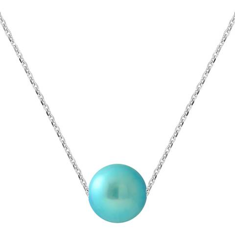 Manufacture Royale Turquoise Blue Pearl Necklace 8-9mm