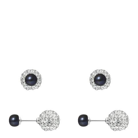 Manufacture Royale Black Tahitian Style Pearl Earrings 6mm
