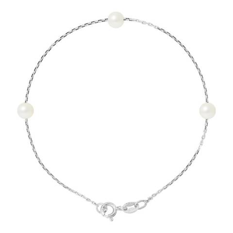 Manufacture Royale Natural White  Pearl Bracelet 5-6mm