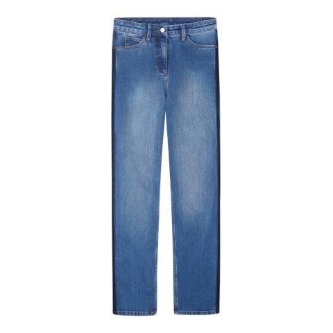 Pure Collection Mid Blue Montpellier Slim Boyfriend Stretch Jeans