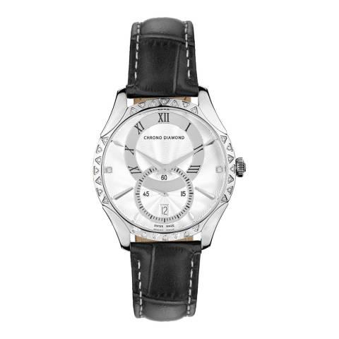 Chrono Diamond Men's Black Skylla Watch