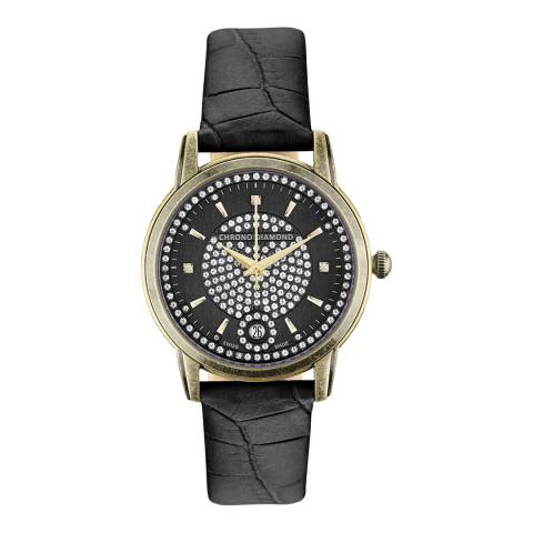 Chrono Diamond Men's Black Nymphe Watch