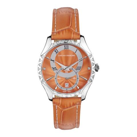 Chrono Diamond Men's Orange Skylla Watch
