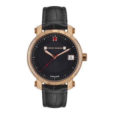 Chrono Diamond Men's Black Nesta Watch