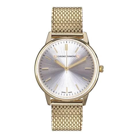 Chrono Diamond Men's Gold Zelya Watch