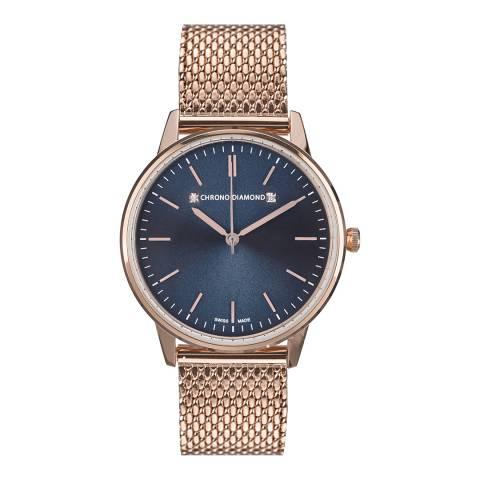 Chrono Diamond Women's Red Gold Zelya Watch