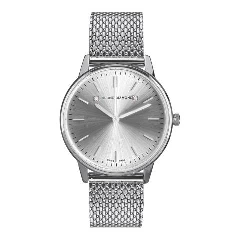 Chrono Diamond Men's Silver Zelya Watch