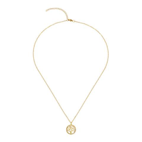 Liv Oliver 18K Family Tree Embelished Necklace