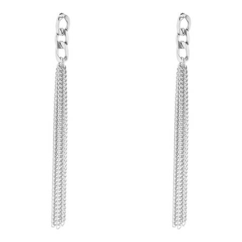 Liv Oliver Silver Multi Chain Statement Earrings
