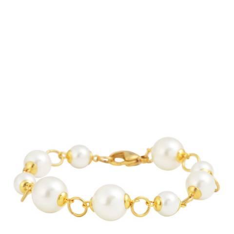 Liv Oliver 18K Gold Pearl Link Bracelet
