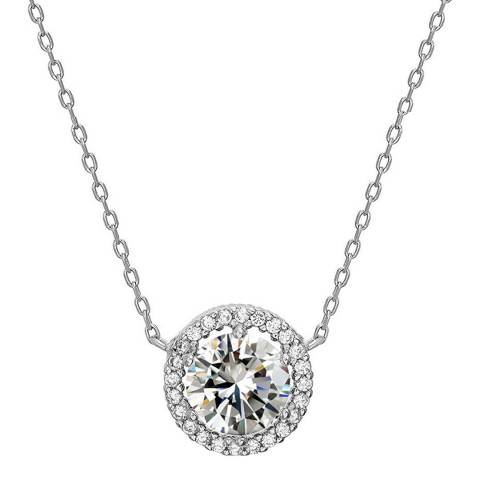 Liv Oliver Sterling Silver Cubic Zirconia Necklace