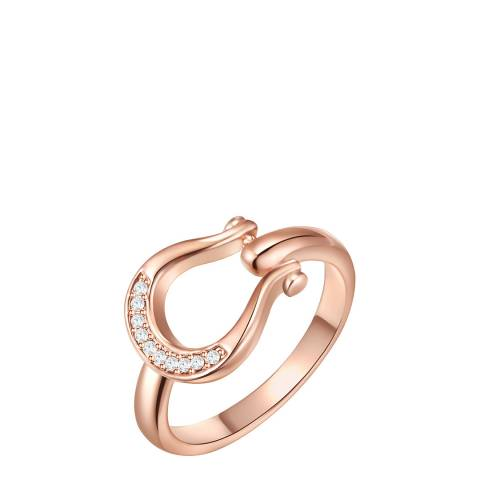 Glamcode Rose Gold Motif Ring with Swarovski Crystals